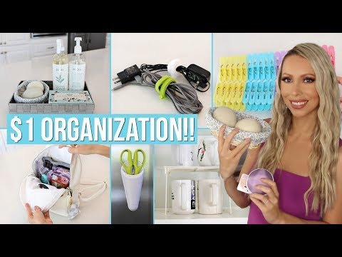 26 Dollar Store Organization Ideas for EVERY ROOM in Your Home!