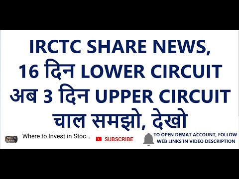 IRCTC SHARE NEWS, 16 दिन LOWER CIRCUIT | अब 3 दिन UPPER CIRCUIT, चाल समझो, देखो |  IRCTC Share Price