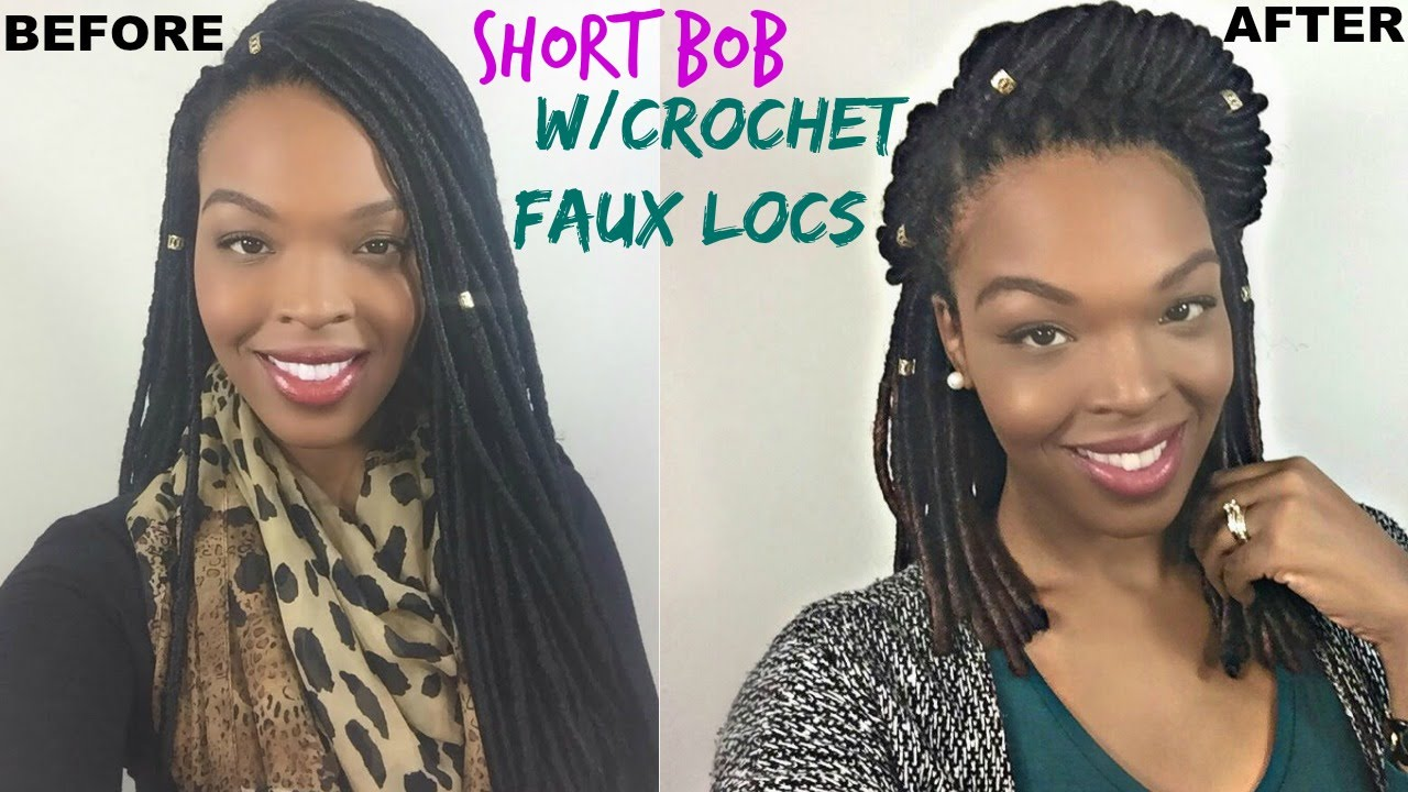 The Best Short Bob W Crochet Faux Locs Janet Collection Youtube