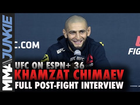Khamzat Chimaev ready for Demian Maia after 17-second KO   UFC on ESPN+ 36 post-fight interview