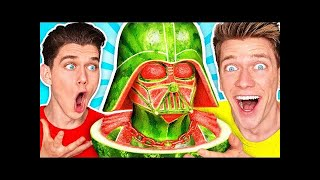 FOOD ART CHALLENGE 3 & How To Make the Best Epic STAR WARS Custom Art By Customizing Funny Foods