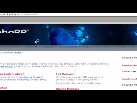 How to install phpbb3 forum using FileZilla