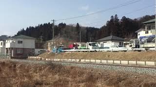三陸鉄道リアス線 訓練列車(試運転)八木沢・宮古短大駅 到着
