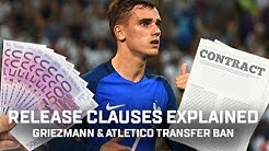 Release Clauses Explained! | Antoine Griezmann Manchester United & Atletico Madrid's Transfer Ban!