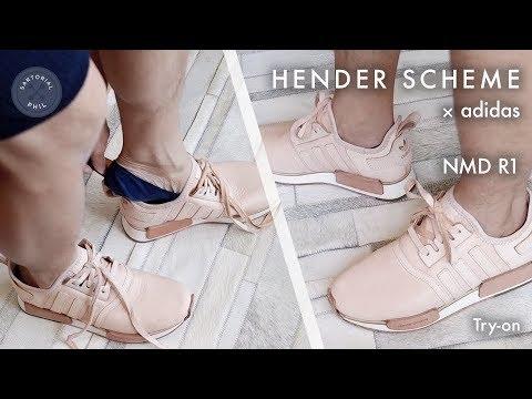 e52e484517068 Adidas x Hender Scheme NMD R1 Try-on (Part 2) - YouTube