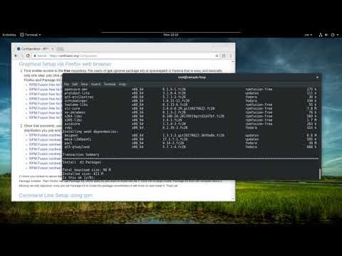 Install RPM Fusion Repository on Fedora 26 - Install VLC Player in fedora 26