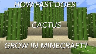 How Fast Does Cactus Grow In Minecraft?