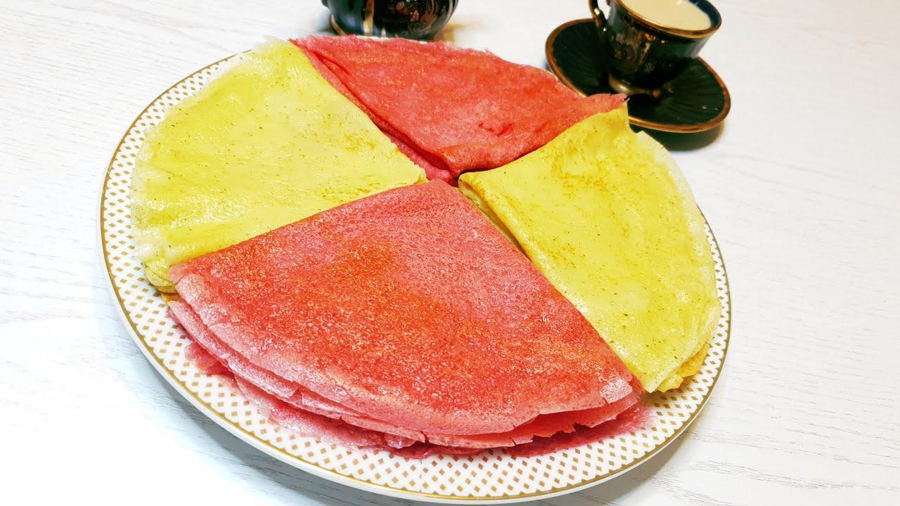 Цветные блины –Украшение для стола!Подборка необычных блинов на Масленицу.Тесто для блинов на молоке