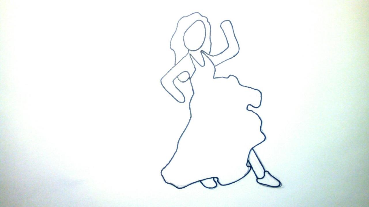 Emoticonos Whatsapp: Cómo dibujar el emoji flamenca paso a paso a lápiz - Fácil para niños