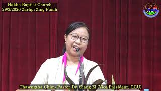 Pastor Dr Siang Zi CCU Vice President HBC March 29, 2020