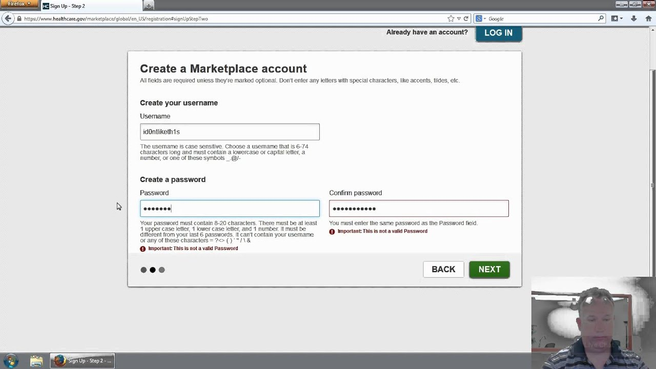 Healthcaree strict username and password requirements youtube healthcaree strict username and password requirements biocorpaavc Image collections