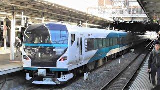 側面塗装も完了! 新塗装「踊り子」用E257系 秋田出場