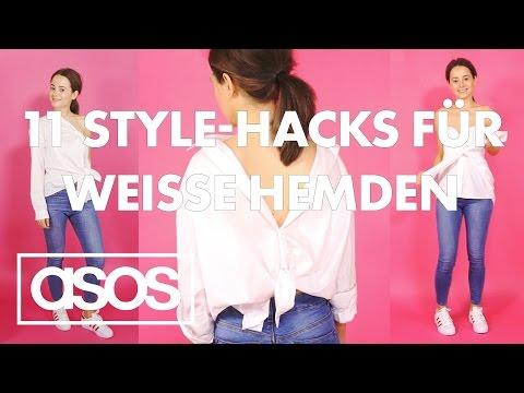 Wie du aus 1 weißen Hemd 11 Styling-Ideen rausholst | Janas Style-Hacks