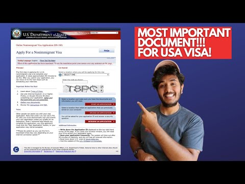 HOW TO FILL UP DS 160 FORM FOR USA VISA!