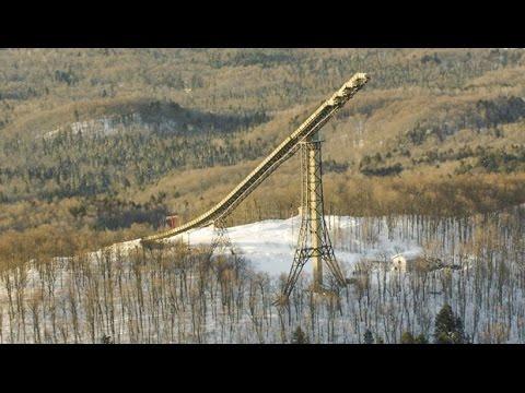 24-Story Backwards Ski Jump and Gnarly Crash