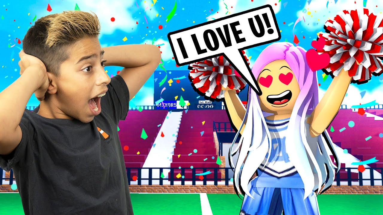 Our School Cheerleader has a CRUSH On Me! (Roblox Brookhaven) | Royalty Gaming