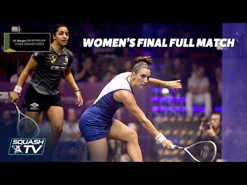 Squash: Serme v El Welily - Women\'s Final - China Open 2018 - Full Matches