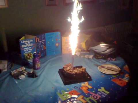 birthday cake firework candle youtube on birthday cake fountain candles