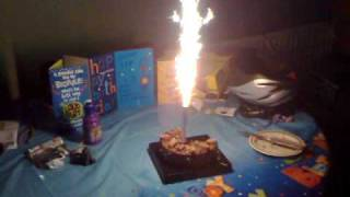 Birthday Cake Firework Candle  .