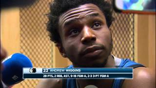 """Wiggins on the Wolves' loss to the Rockets: """"We just didn't get back in transition"""""""