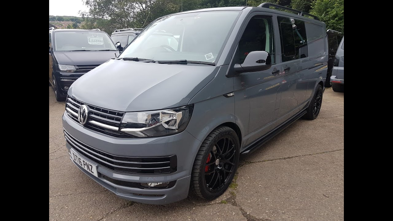 2016 volkswagen transporter t6 pure grey lwb kombi. Black Bedroom Furniture Sets. Home Design Ideas