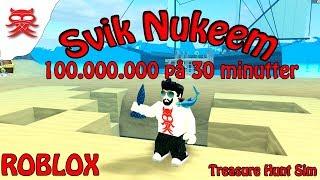 Nuke bomben - Treasure Hunt Sim - Dansk Roblox