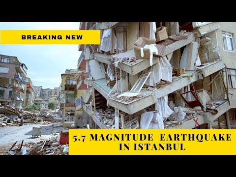 Live Shocking Video Footage  Of Istanbul Earthquake     Turkish City Rocked By 5.7 Magnitude Tremor