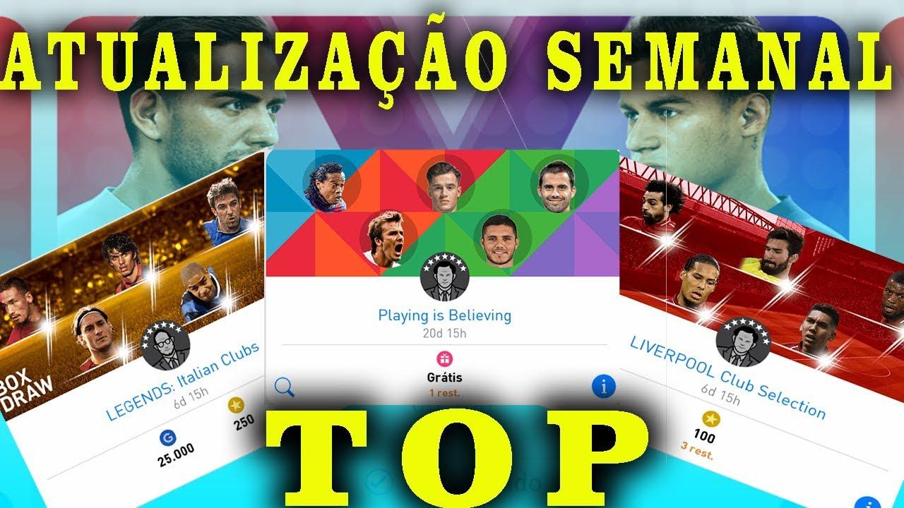 b039218599 Pes 2019 Mobile Atualização semanal show com Box de Lendas    CarvalhoPlay