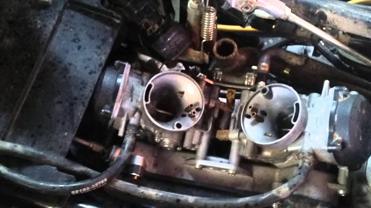 2005 Kawasaki Brute Force 750 Wiring Diagram For Garage Door Opener Backfire Problem Youtube