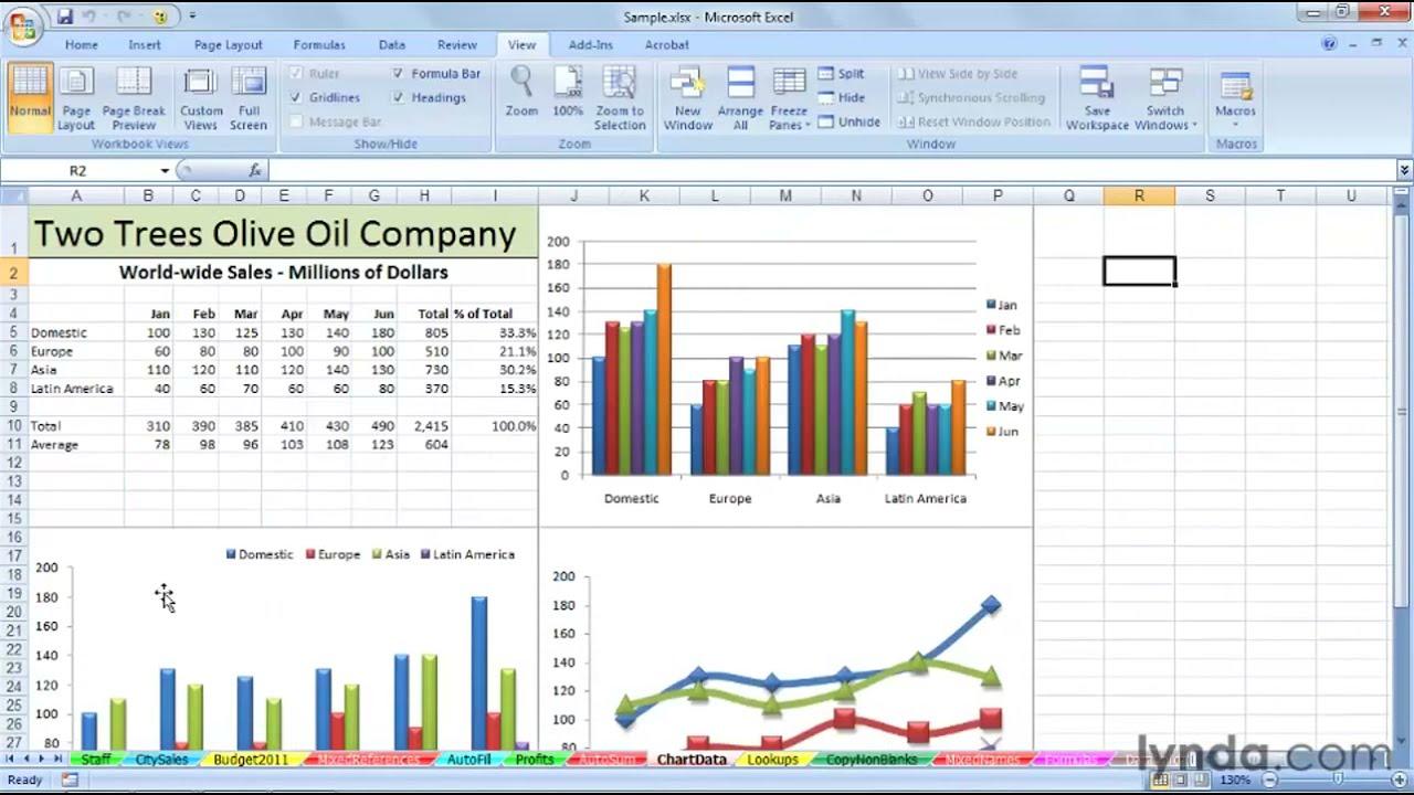 Excel Tut I L How To M N Ge Multiple W Ksheets Lynd