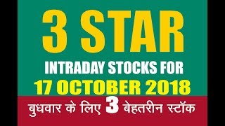 INTRADAY STOCKS FOR 17 OCT 2018