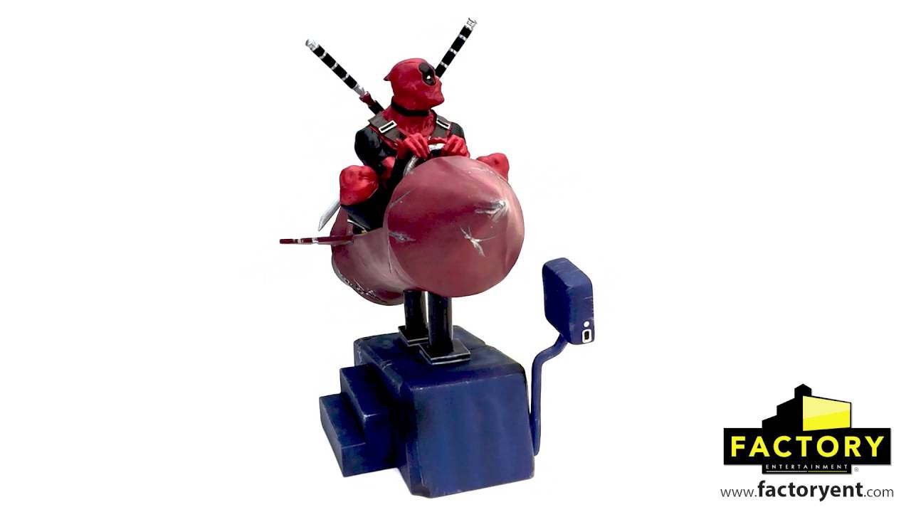 Factory Entertainment Marvel Comics Deadpool Rocket Ride Premium Motion Statue Inc 408719