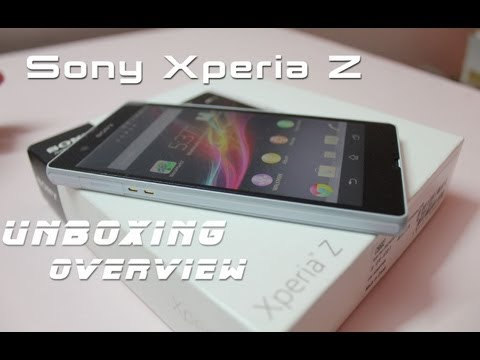 Sony Xperia Z Unboxing & Hands On Overview