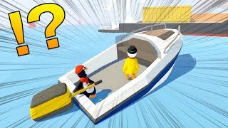 【感動】体がふにゃふにゃでも超絶大きい船を協力して動かせる!Human: Fall Flat #4 thumbnail