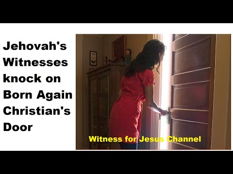Jehovah's Witnesses regret knocking on cult outreach worker's door!!  Must see!