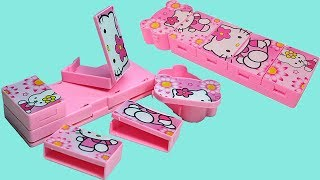 Hello Kitty New Pencil Box for Girls with Detachable Small Boxes