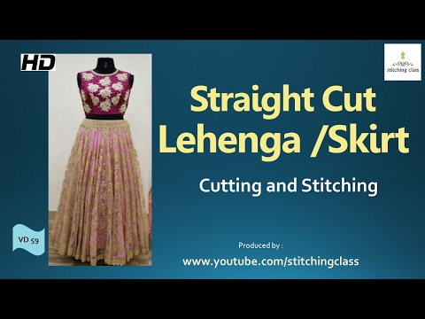 Straight Cut Lehenga Cutting and Stitching | Skirt |