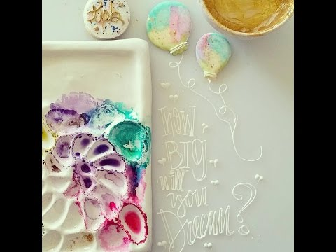 Edible Watercolor Paint Tutorial