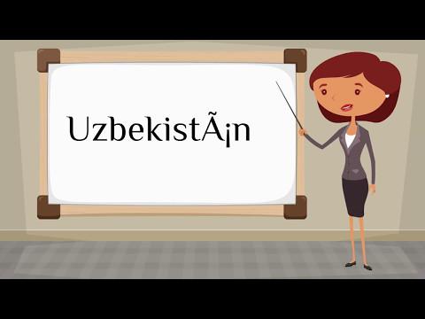 How do you say 'Uzbekistan' in Spanish?
