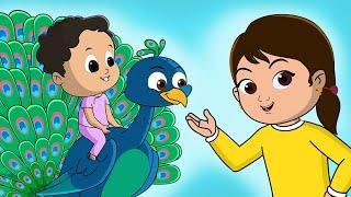 Upar Pankha Chalta Hai | Nani Teri Morni Ko | Hindi Rhymes For Children