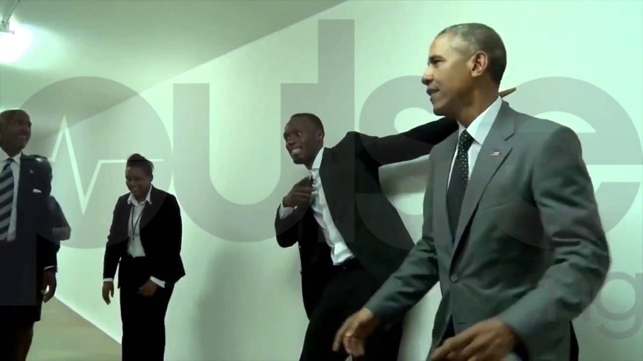 Usain Bolt Meets Barack Obama & Teaches him his Lightning Pose  -> Pose Télévision