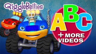 Monster Truck ABC + More Monster Truck Espisodes | Over 1 Hour | GiggleBellies
