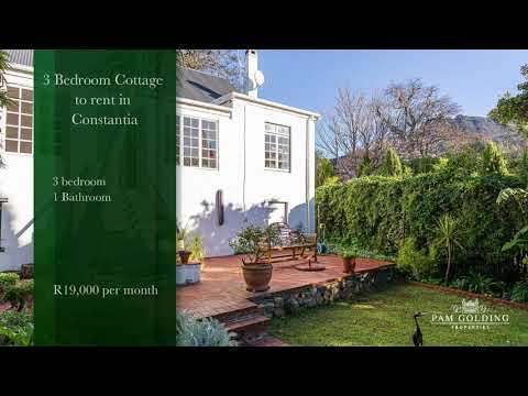 3 Bedroom Cottage To Rent In Constantia