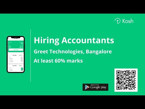 Accountant Required in Bangalore