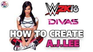 (Özel Logo olmadan)WWE 2K16 Özel oluşturma AJ LEE