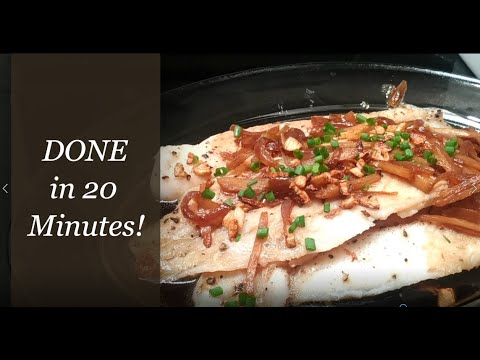 Steamed Fish With Toasted Garlic And Ginger   Quick And Easy Recipe