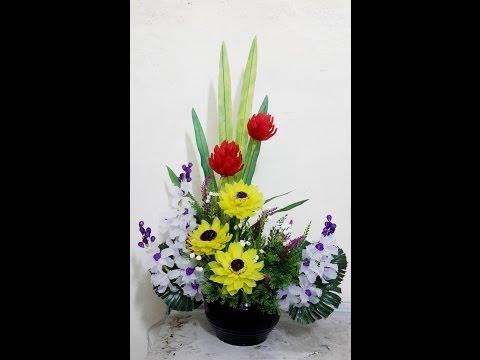 Hướng dẫn làm hoa hướng dương pha lê và cách cắm hoa pha lê nghệ thuật