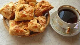 Пирожки с яблоками из готового листового теста (дрожжевого)