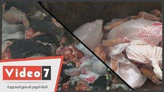 بالفيديو.. الطب البيطرى بالجيزة: ضبط 100 طن أحشاء ورؤوس ماشية فاسدة