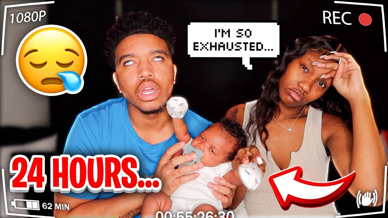 24 HOURS WITH OUR NEWBORN!